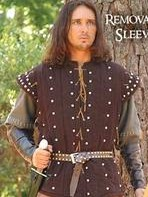 Robin Hood Gambeson with detachable sleeves removed