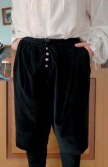 Black velvet Venetian Breeches, ideal to pair with the Italian Doublet
