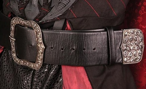 Pirate King belt in black leather