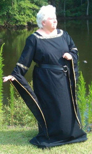 Medieval longdress in black