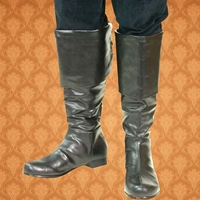 Captain boots have foldover flaps with lacing in back, hidden zipper for easy on and off. Sizes  8-13.