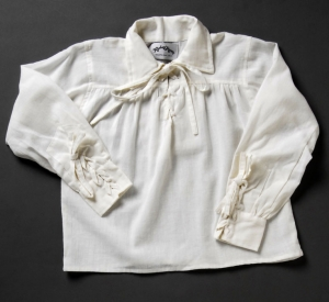 Child's lace-up Renaissance Shirt in natural