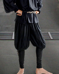 Capt. Cottuy Pirate Pants in black, available in seven other colors.