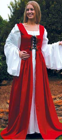 Fair Maiden Dress in Red, Lace-up Front