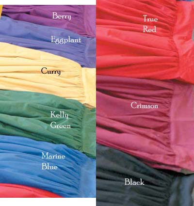 Color swatches for crop top.