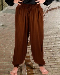 Harem or pirate pants in chocolate, available in 6 other colors.