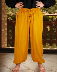 Harem or Pirate Pants in gold, six other colors available.