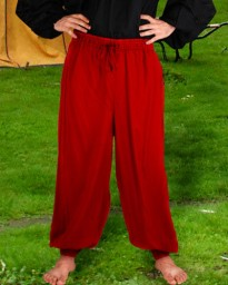 Harem or pirate pants in red, six other colors available.