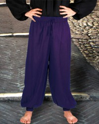 Harem or Pirate Pants in Royal Blue, six other colors available.