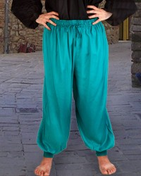 Harem or Pirate Pants in teal, six other colors available.