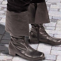 High Seas Boots, black synthetic leather boots with deep fold-down cuff, sizes 8-13