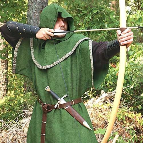 Huntingdon Archer's Tunic in forest green