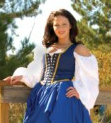 Locklace bodice in navy - comes in three colors that reverse to black.