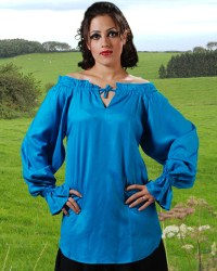 McxGreedy Pirate Blouse in Hawiaan Ocean Blue.  7 other colors available.