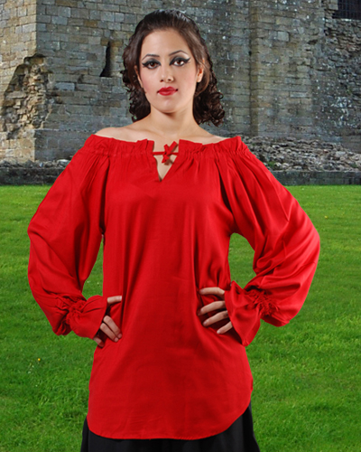 McxGreedy Pirate Blouse in red.  7 other colors available.