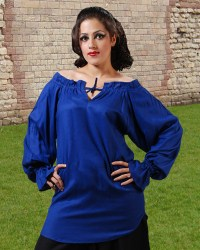 McxGreedy Pirate Blouse in royal blue.  7 other colors available.
