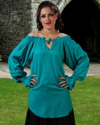 McxGreedy Pirate Blouse in turquoise.  7 other colors available.