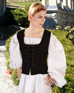 Peasant bodice in black