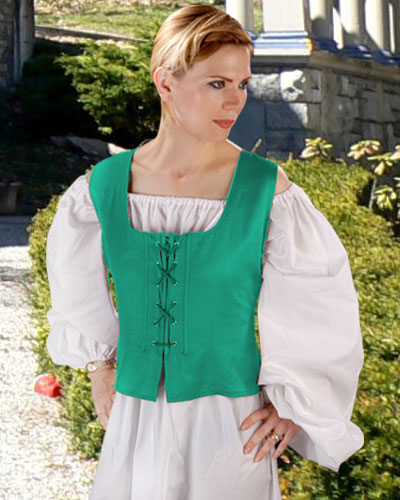 Peasant Wench Bodice in green