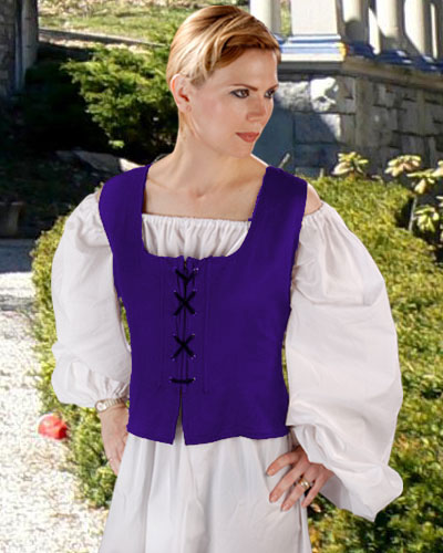 Peasant Wench Bodice in Royal Blue