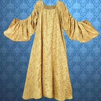 Royal Gold Chemise - elegant gold on gold fabric with long, full sleeves  that are gathered with drawstrings and tie at the shoulders to adjust to your preference.