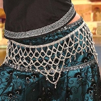 Intricate, hand-made belt adds a jingle to your walk.
