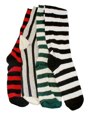 Renaissance cotton thigh-high socks in 5 solid colors and 5 stripe combinations