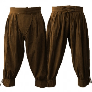 Pima cotton pirate pants in chocolate