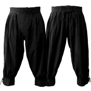 Pima cotton pirate pants in black