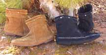 Viking Boot - this style of boot was worn for hundreds of years.  The low ankle profile and  soft suede exterior make it a great boot for a variety of renfaire garb.