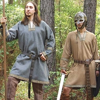 Viking Tunic in grey or tan wool